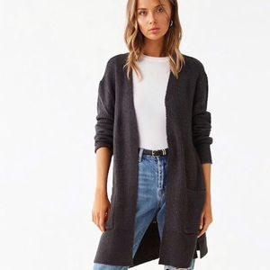 Forever21 Charcoal Colored Long Cardigan